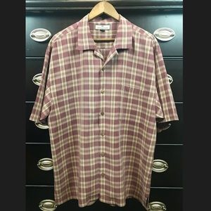 Tommy Bahama 100% Silk Mens Casual Button Front